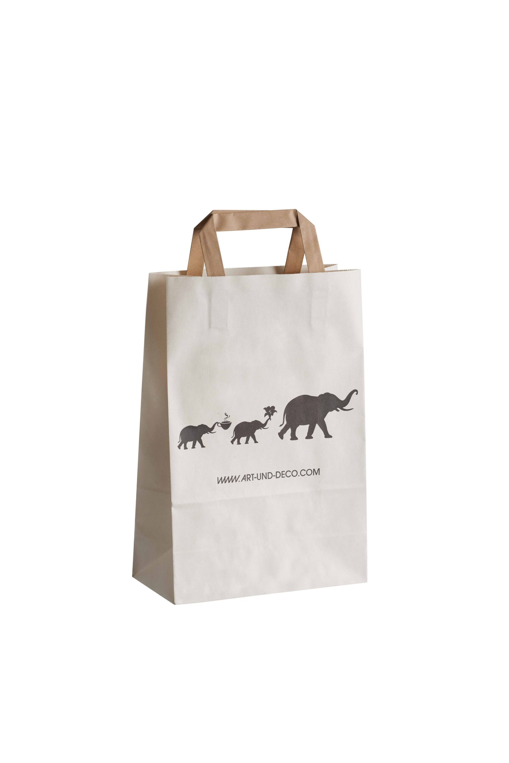 Papierhenkeltasche Werbedruck exklusiv Logo hochwertig schnelle Lieferung günstig Druck