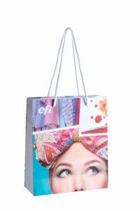 Exklusive Papiertragetasche, Werbemittel, Hochwertige Einkaufstasche, Papiertragetasche, Individualisierbar, Logo, Druck