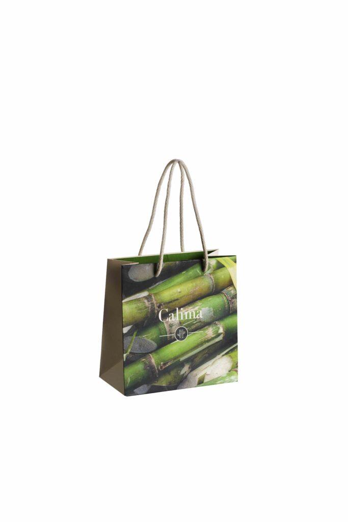 Nachhaltige Tragetasche, Sugar Cane, Zuckerrohr, Bagasse, Individeuller Werbedruck, Logo, Firmenlogo, Werbemittel, Papierkordeltasche, Einkauftstasche