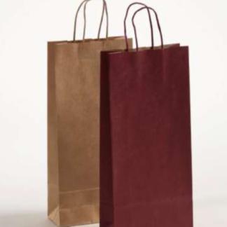 Flaschentasche 2er Papierkordeltasche schnelle Lieferung Braun Bordeaux günstig