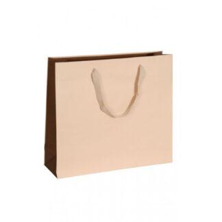 Exklusive Papiertragetasche Glamourös Baumwollbänder Werbemittel hochwertig Werbung günstig Größenformate schnelle Lieferung günstig kompetent stabil Einkaufstasche Gold