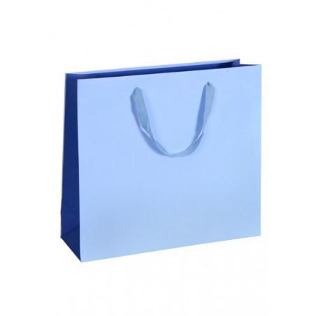Papiertragetasche Beige Blau Robin Balu Grün Pink Boutique-Tasche Einkaufstasche Tragetasche Baumwollbänder zweifarbig