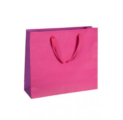 Exklusive Papiertragetasche Glamourös Baumwollbänder Werbemittel hochwertig Werbung günstig Größenformate schnelle Lieferung günstig kompetent stabil Einkaufstasche Pink
