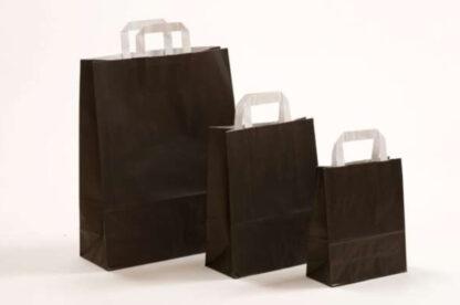 Papierhenkeltasche Papiertasche Einkaufstasche Werbemitel Papier Nachhaltig schön günstig preiswert schnelle Lieferung unterschiedliche Größenformate schwarz weiße Papiertagehenkel