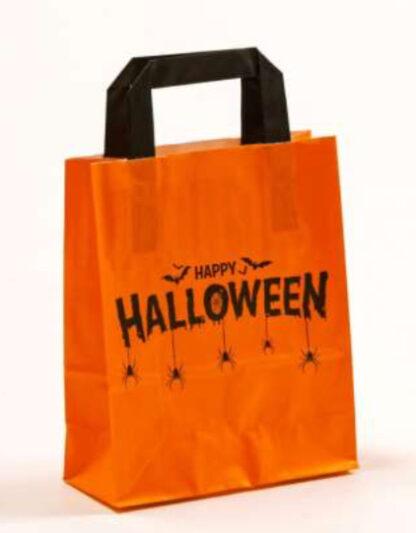 Papierhenkeltasche Halloween Orange Schwarz Papiertasche Geschenktasche Süßes oder Saures Tragetasche Tasche für Süßigkeiten Kinder Spaß Happinez günstig preiswert schnelle Lieferung