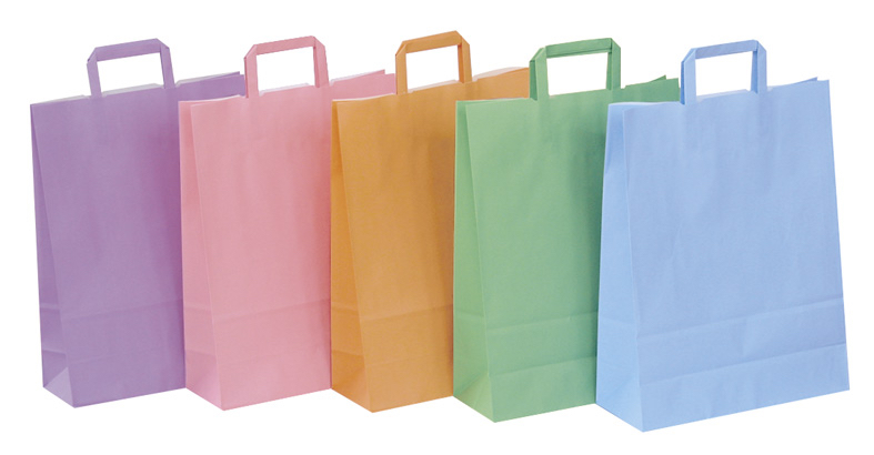 Papierhenkeltaschen Einekaufstaschen viele Farben Papier schnell zuverlässig günstig schnelle Lieferung preiswert