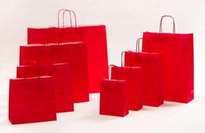 Papierkordeltaschen Werbung Tragetasche Papiertragetasche Werbemittel Einkaufstaschen Papier hochwertig nachhaltig viele Größenformate schnelle Lieferung günstig preiswert kompetent Rot umweltbewusst Verpackung