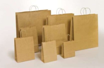 Papierkordeltaschen Werbung Tragetasche Papiertragetasche Werbemittel Einkaufstaschen Papier hochwertig nachhaltig viele Größenformate schnelle Lieferung günstig preiswert kompetent Braun Naturfarben umweltbewusst Verpackung