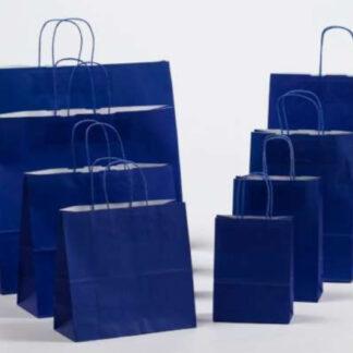 Papierkordeltaschen Werbung Tragetasche Papiertragetasche Werbemittel Einkaufstaschen Papier hochwertig nachhaltig viele Größenformate schnelle Lieferung günstig preiswert kompetent blau umweltbewusst