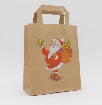 Nikolaus Papierhenkeltasche Weihnachten Werbemittel Werbung günstig schnelle Lieferung Santa Claus Weihnachtsmotiv Boutiquen Steinebach Tüten Papiertaschen