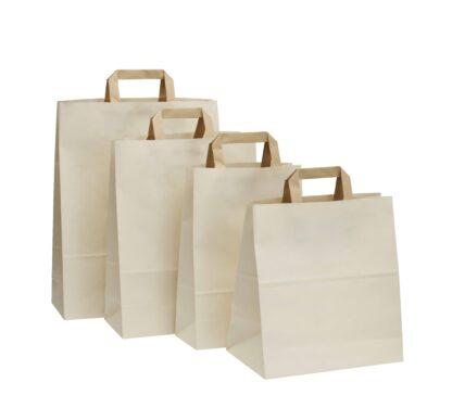 Nachhaltige Papiertragetaschen Einkaufstaschen 100 Prozent Zuckerrohrpapier Sustainability Nachhaltigkeit Eco Eco-Einkaufstasche Tragetasche Papiertasche
