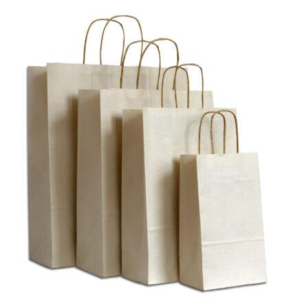 Papierkordeltasche Zucherrohrpapier Recyclingpapier ungeblicht Naturfarbe Braun Größenformate Werbemittel Einkauftstasche nachhaltig umweltschonend Upcycling Kopostierbar Tragetasche Tragetüte