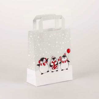 Papierhenkeltasche Weihnachten Christmas Werbemittel Einkaufstasche Shopping Bag Einkaufen Werbung Happy happyness Flachhenkel
